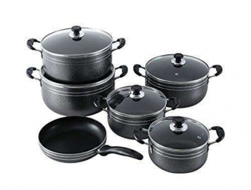 11 Pieces Non Stick Set, Seeman  - Jefroh Home Interiors , Nairobi -  Kenya