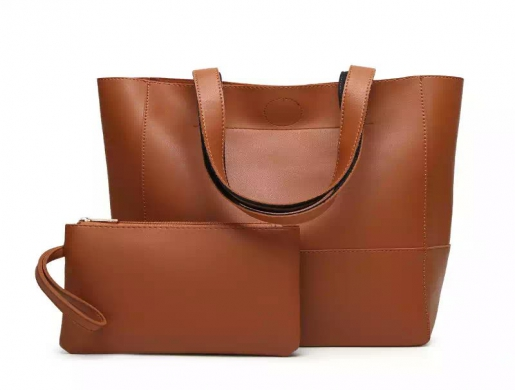 Fashion 2pcs in 1set bag , patch-work leather tote bag with coin purse, Nairobi -  Kenya