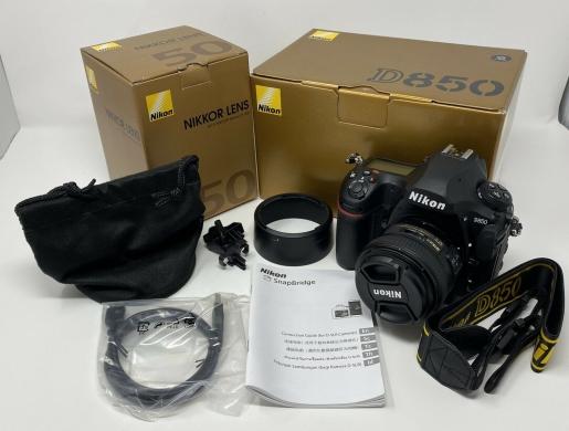 Nikon D850 45.7MP FX Digital SLR Camera With Nikkor 50mm f/1.4G Lens , Nairobi -  Kenya