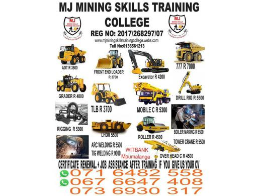 TLB Training in Nelspruit Carolina Witbank Ermelo Secunda Kriel Belfast 0716482558/0736930317, Witbank -  South Africa