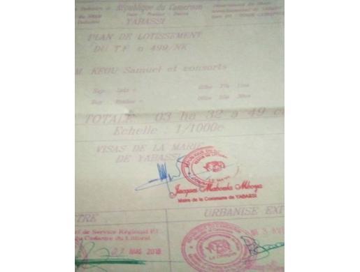 TRRAIN TITRE A VENDRE , Douala -  Cameroun