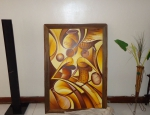 Traditional African Women Canvas Oil Painting-Ready to Hang